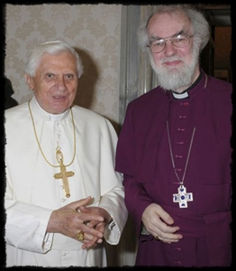 Pope Benedict and the Archbishop of Cantebury