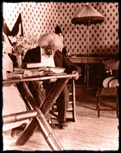 Douglass at his desk in Haiti