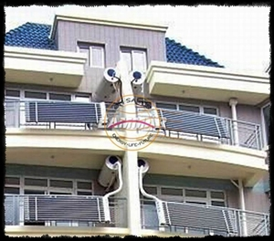 Balcony solar water heaters in Zhejiang, China
