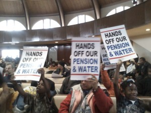 Detroit Water Protests ( WWJ Newsradio 950-Beth Fisher)