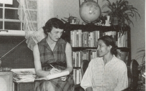 Anne Braden and Rosa Parks, 1950s