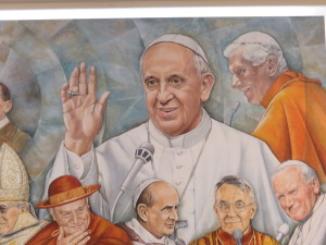Mural at Vatican Radio