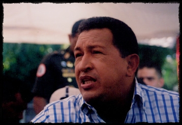 Hugo Chavez at taping of Alo Presidente 2004