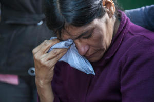 Cipriana Juarez Diaz, mother of Gilberto Francisco Ramos Juarez, a Guatemalan boy who died in the Rio Grande Valley of South Texas.(Luis Soto/The Associated Press)